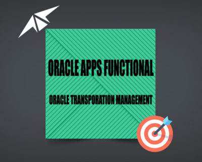ORACLE TRANSPORTATION MANAGMENT